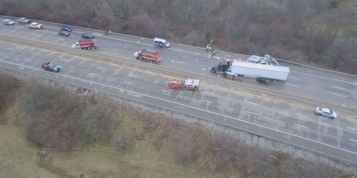 Interstate reopens following grisly crash leaving 7 hurt on I-264