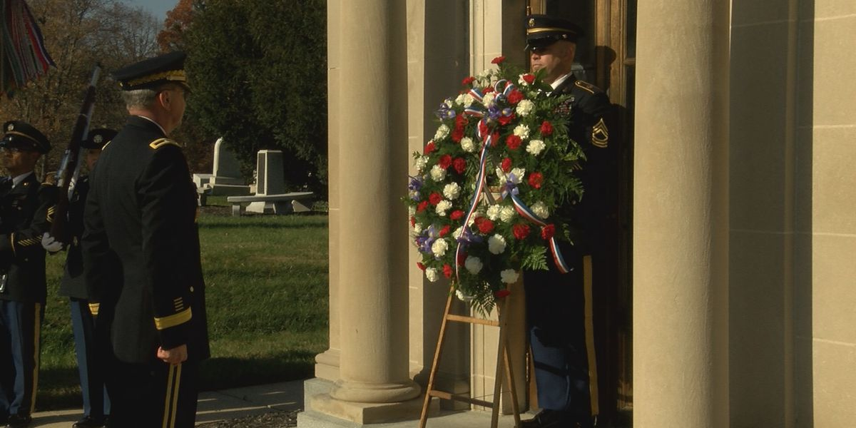 Former president, Louisville native honored at wreath-laying ceremony