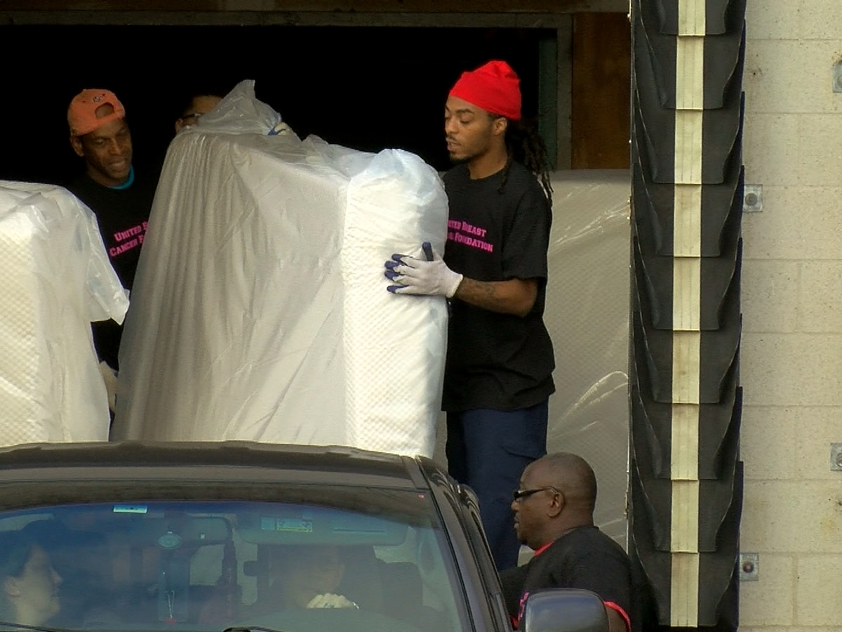 Hundreds of free mattresses given to cancer survivors and patients