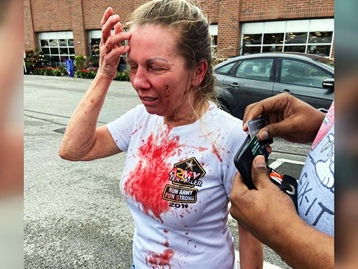 'They were beating me': Woman attacked at Kroger on Mother's Day wants more help from LMPD