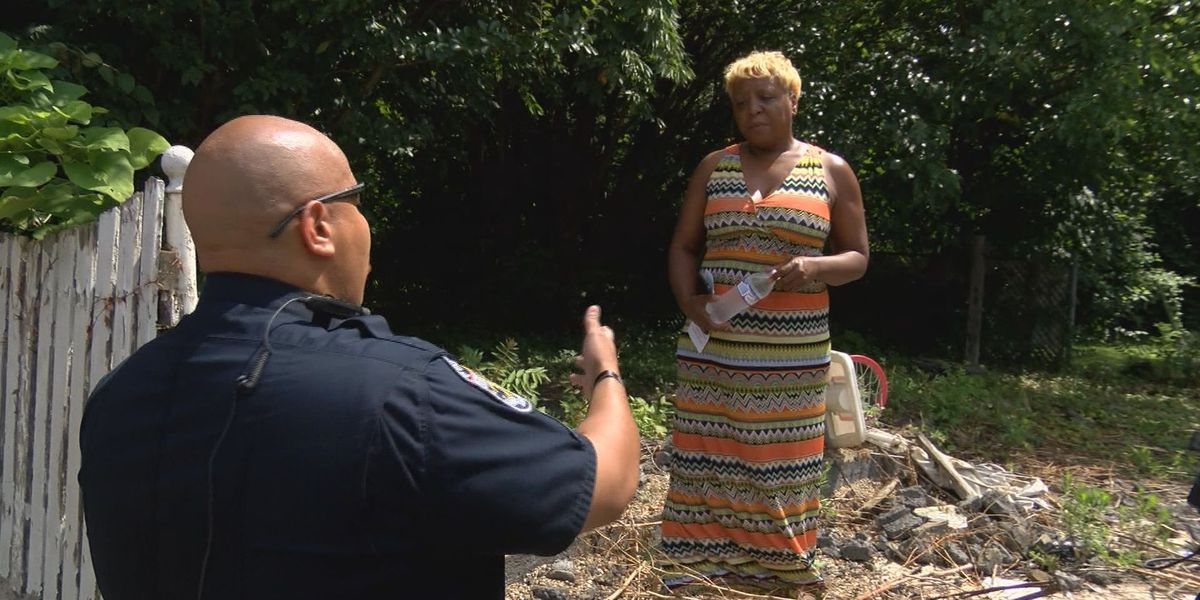 LMPD hands out water, hoping for information from community