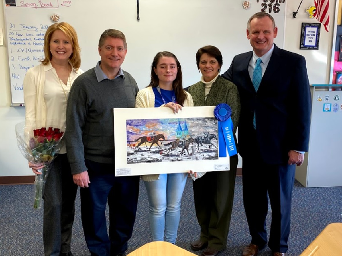 Ky. Derby Museum crowns Mercy Academy student as art contest grand prize winner