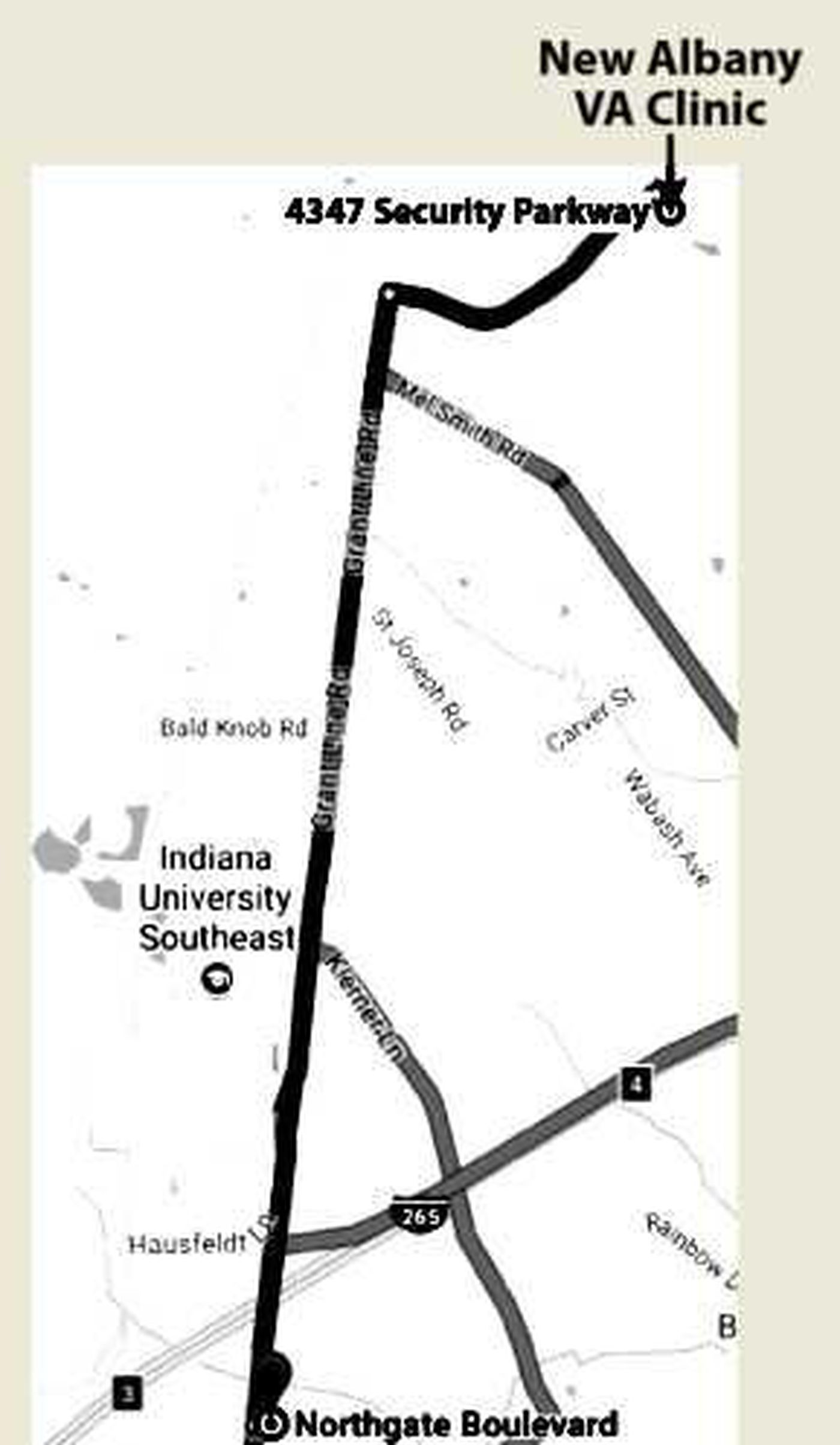 Albany Indiana Map.New Albany Va Outpatient Clinic Moving To New Location