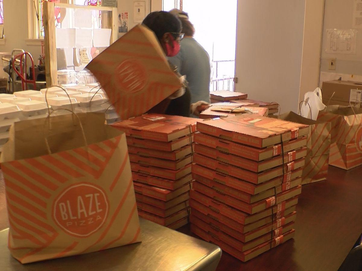 Blaze Pizza donates food for new community program