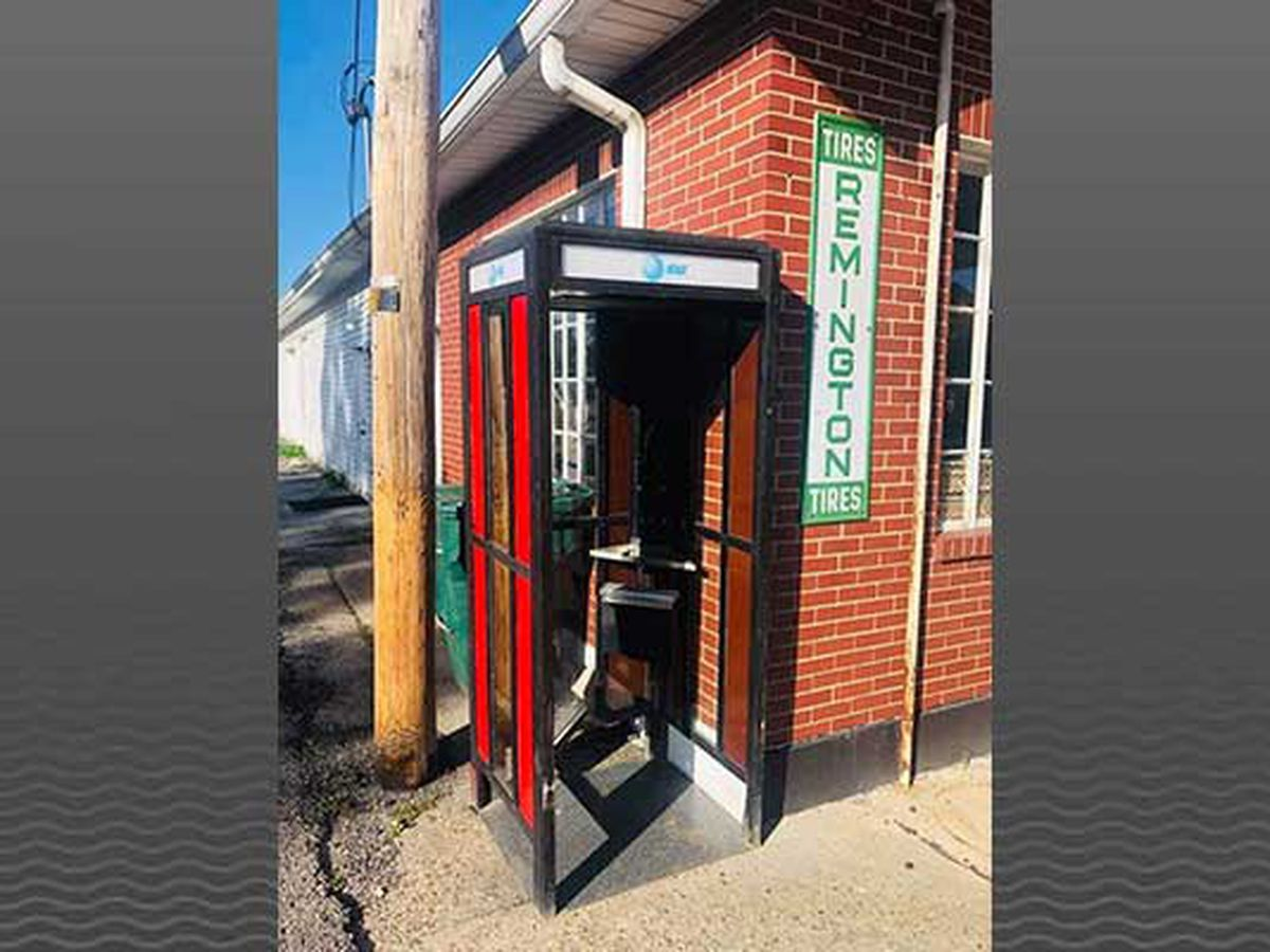Business offers reward in vintage phone booth theft