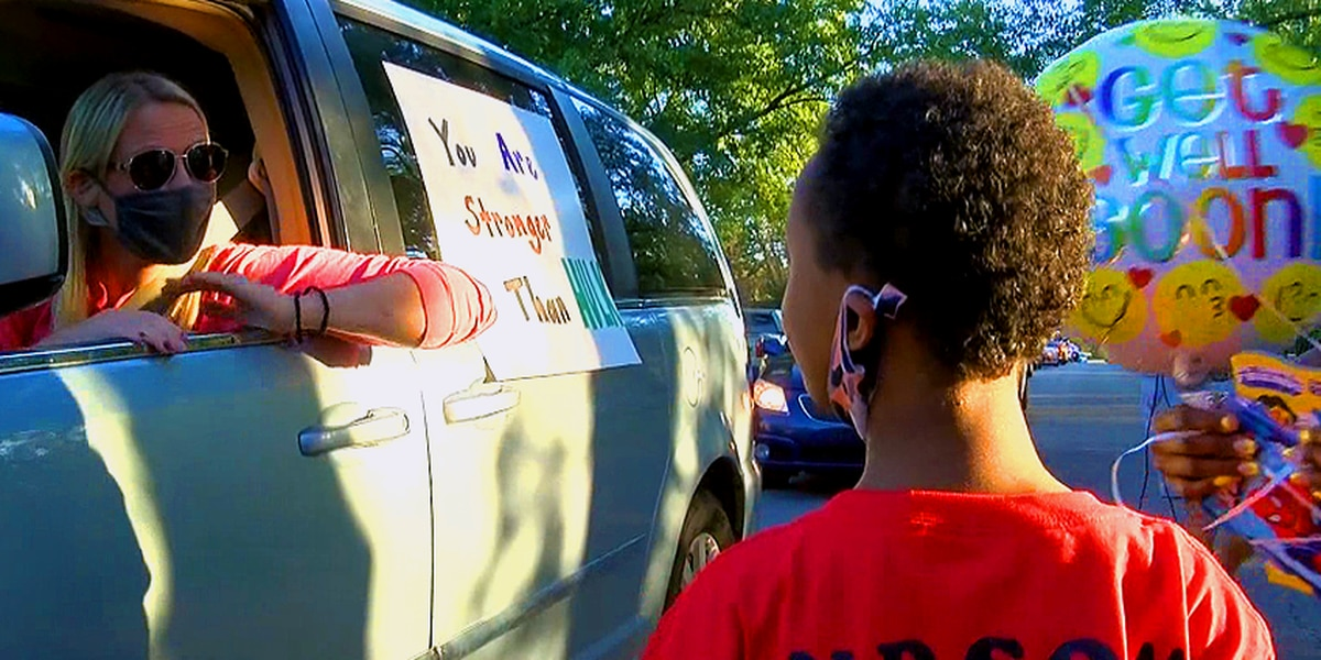 Parade thrown for Louisville boy, 8, undergoing heart surgery this week