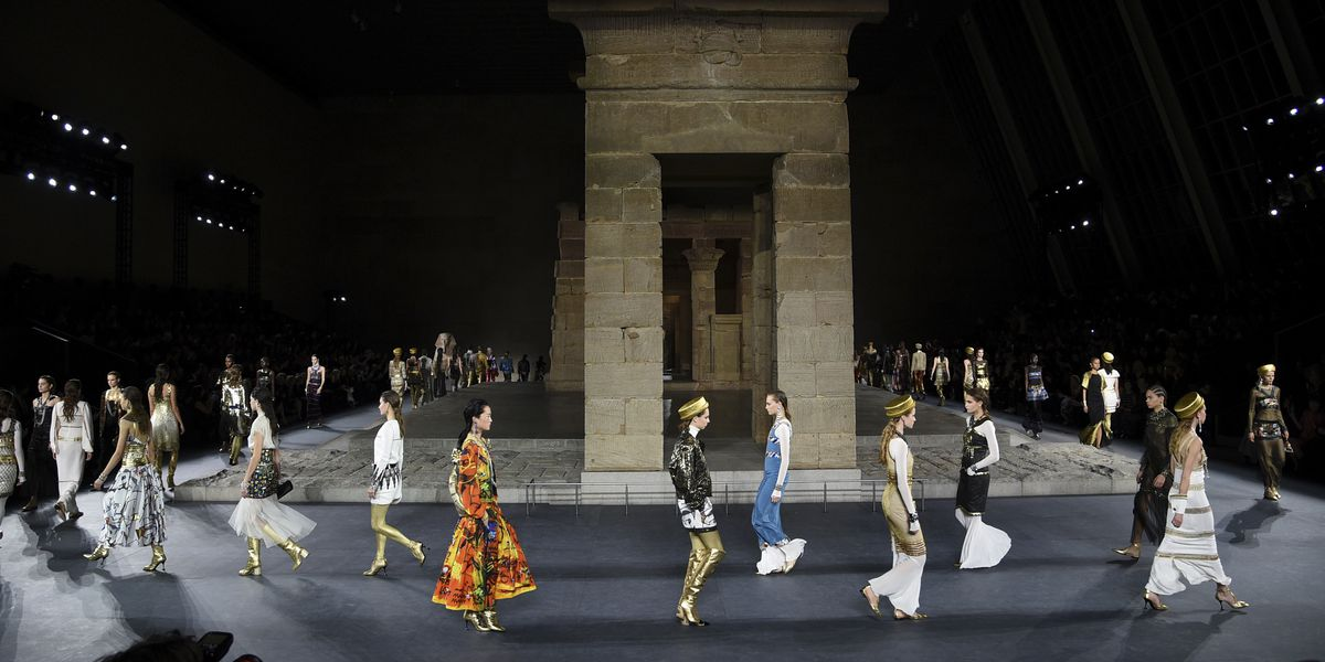 Chanel's Lagerfeld channels ancient Egypt with mini-Met Gala