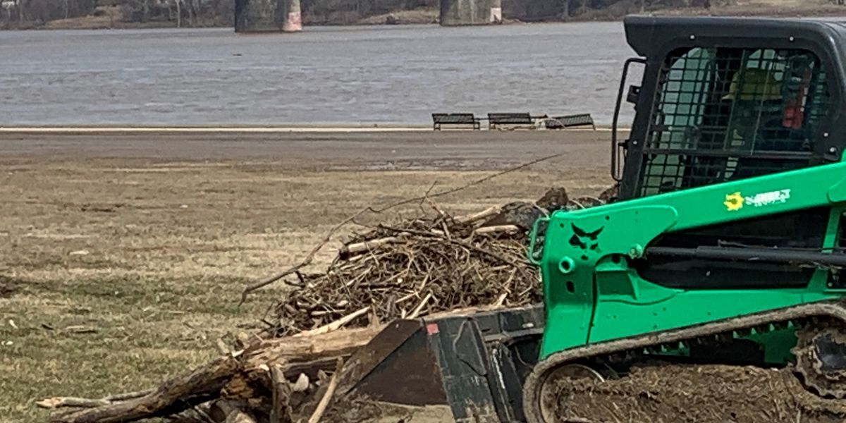 What flood? Aggressive clean up clears away debris, trash from Louisville waterfront, but more to be done