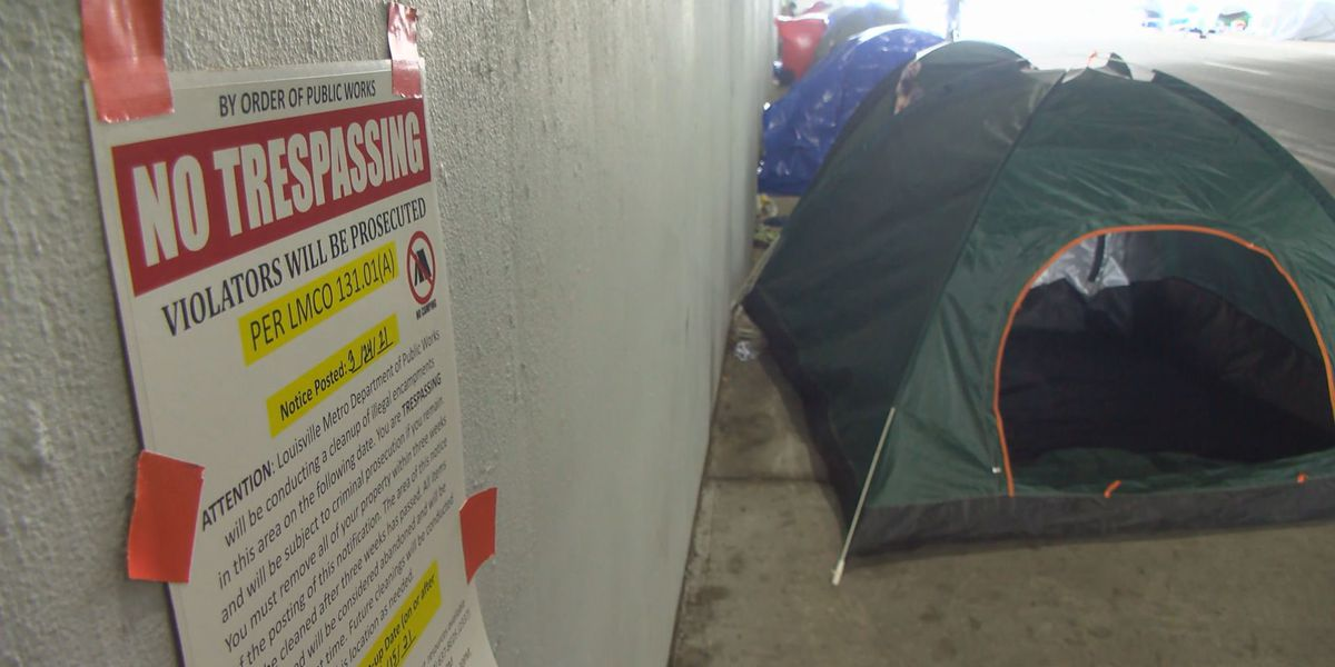Louisville to clean homeless camps instead of clearing them