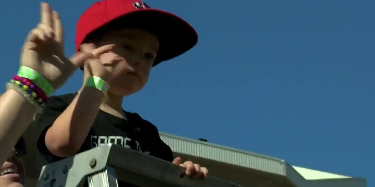4-year-old honored during UofL football halftime show