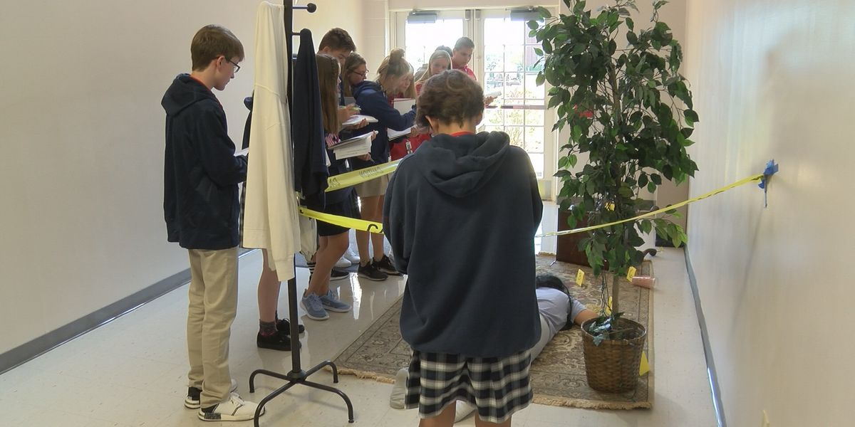 Classroom turns to fake crime scene for Christian Academy students