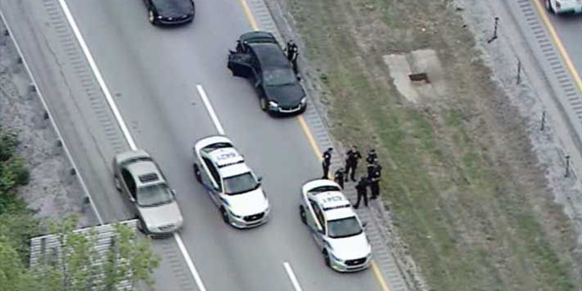 1 arrested after high speed chase on 2 interstates