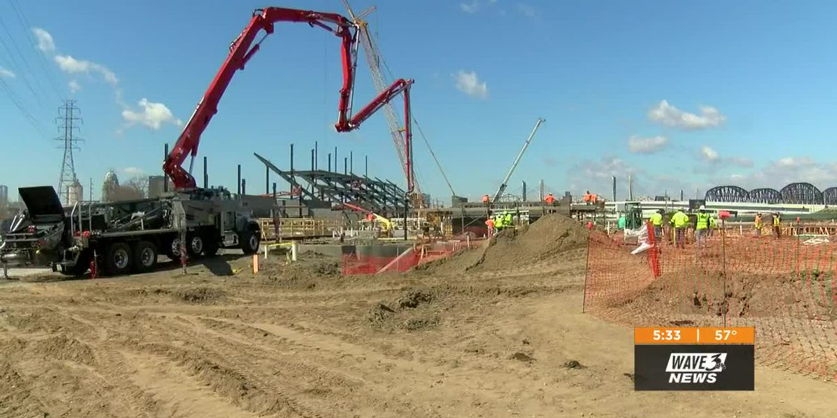 LouCity soccer stadium beginning to take shape in Butchertown