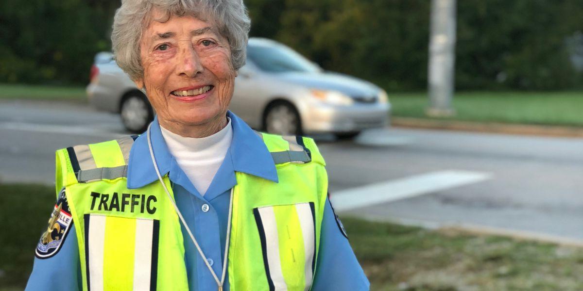 LMPD traffic guard celebrates 50 years on the job