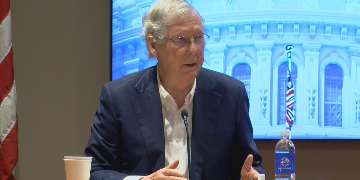 McGrath absent as McConnell describes 'utter contempt' Democrats have for rural America