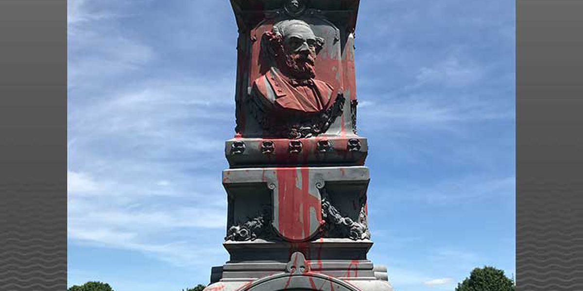 Statue in Bardstown Cemetery vandalized with paint