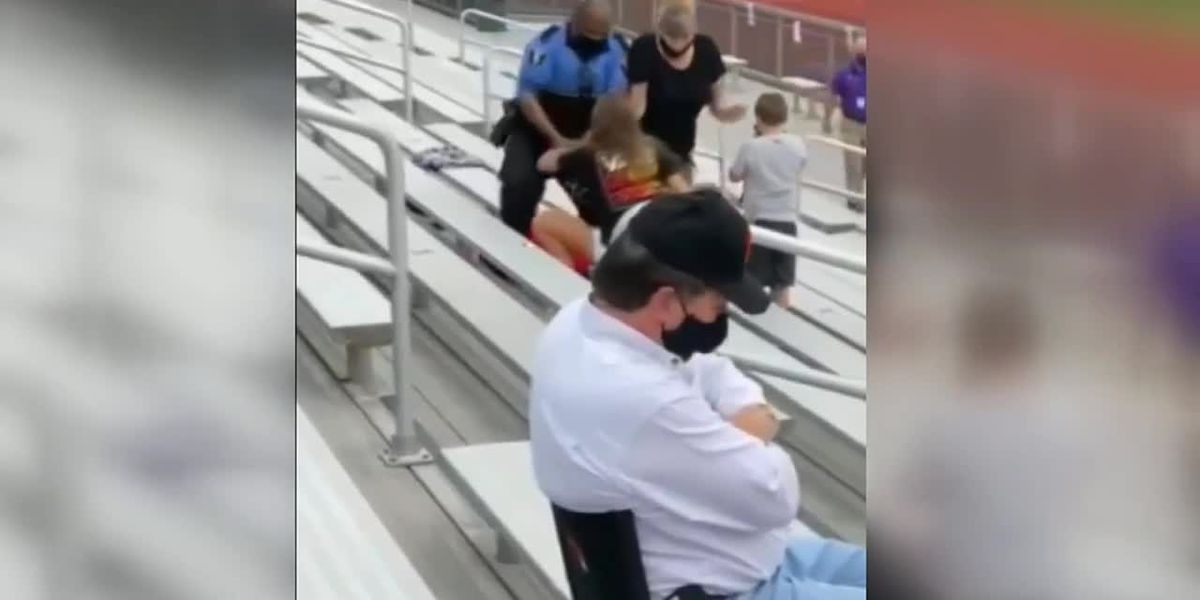Woman Apparently tased at football game