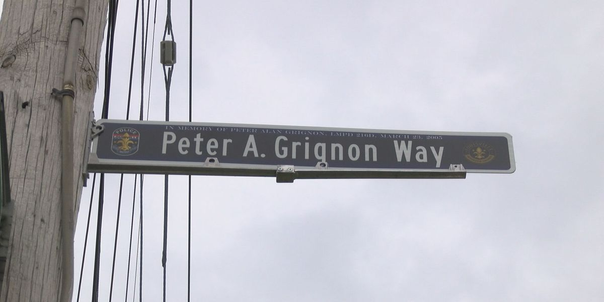Peter Grignon Way honors LMPD officer killed in line of duty