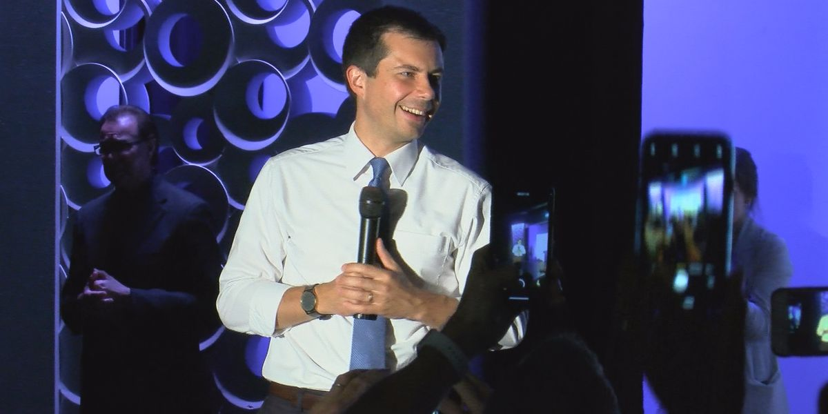 Presidential hopeful Pete Buttigieg campaigns in Louisville