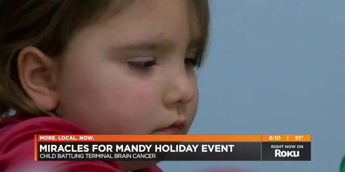 Community hosts Mandy's Magical Christmas for 4-year-old with terminal cancer