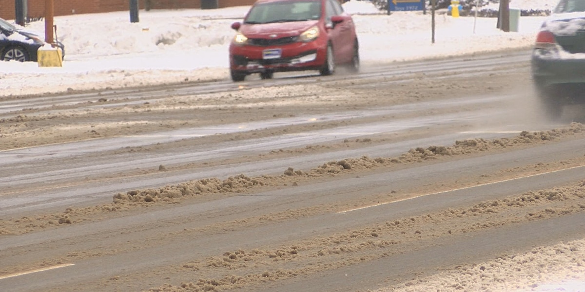 State, local crews looking to clear slush off the roads before another round of snow