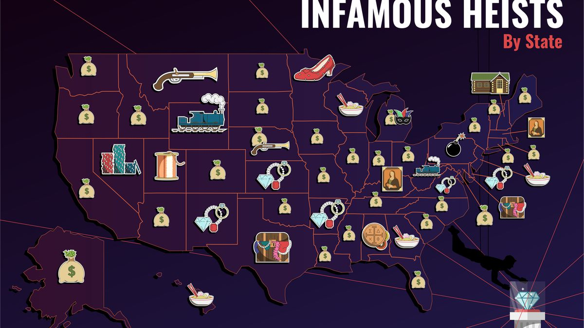 Check out the most famous heists by state