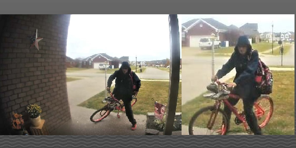 Shepherdsville Police looking for suspected porch pirate