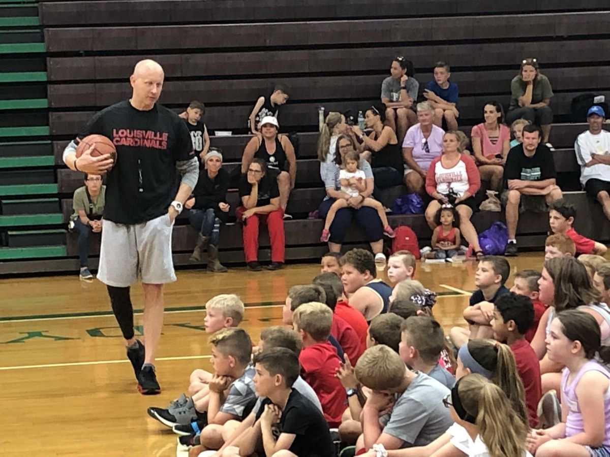 U of L Basketball Teaches Hoops at Meade County High School