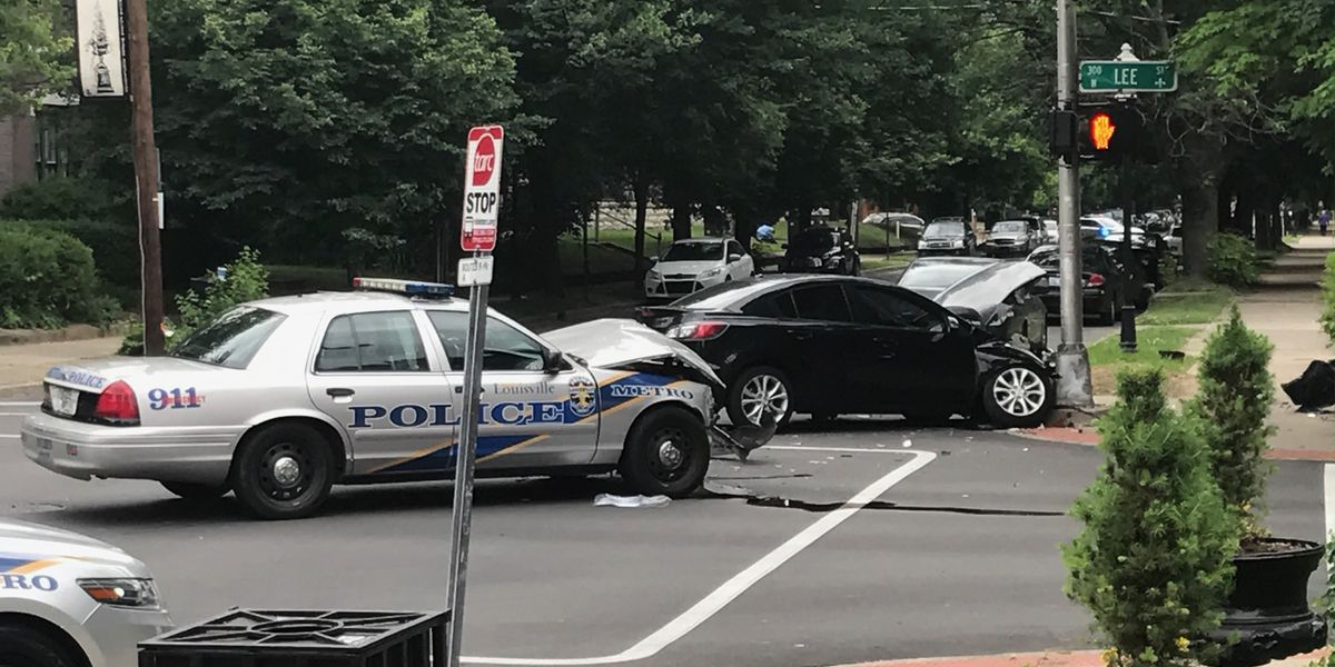 LMPD officer involved in crash near UofL