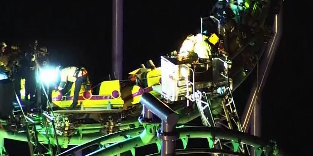 Riders get stuck on roller coaster at Six Flags America