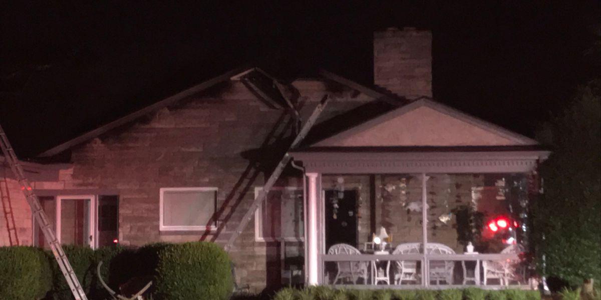 Home catches fire near Seneca Park