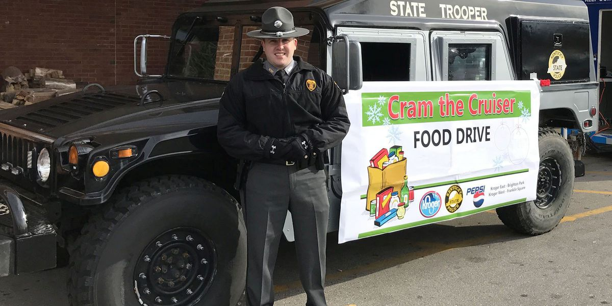 KSP collecting food for annual Cram the Cruiser