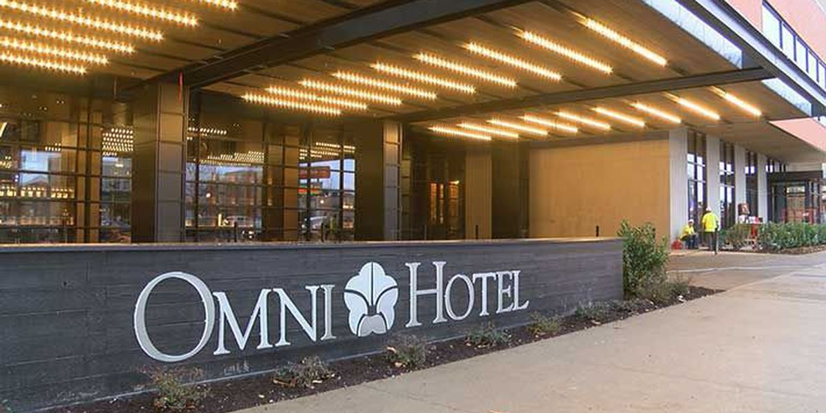 Omni Louisville Hotel crews spend final hours applying finishing touches