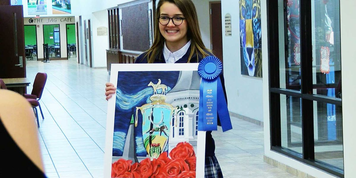 Mercy Academy student wins Derby Museum art contest