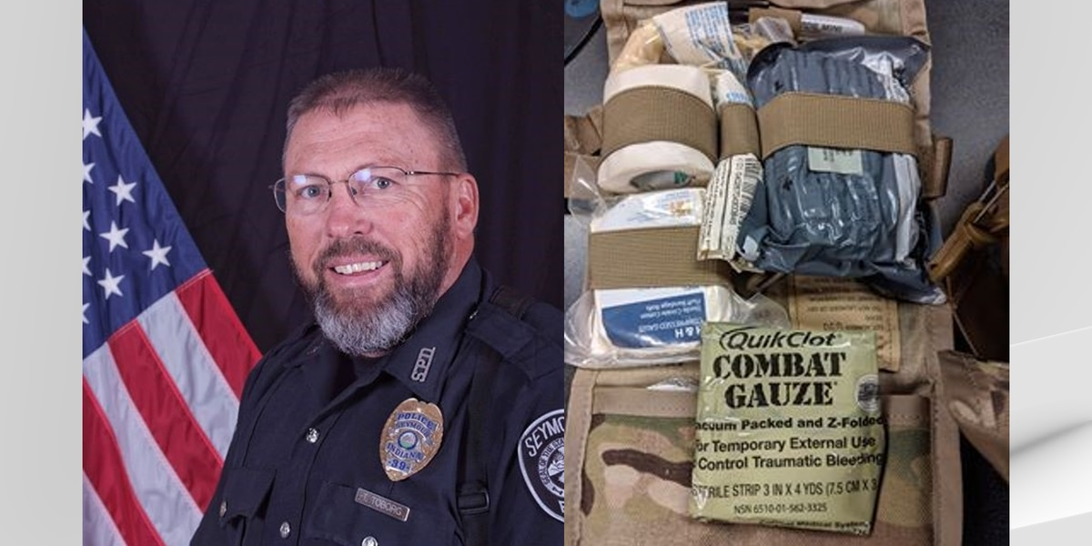 Seymour officer saves man's life with military gauze