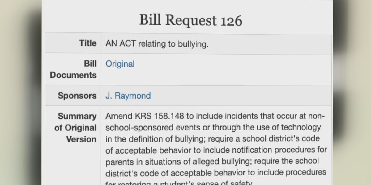 Middle school project leads to prefiled bill in Kentucky legislature