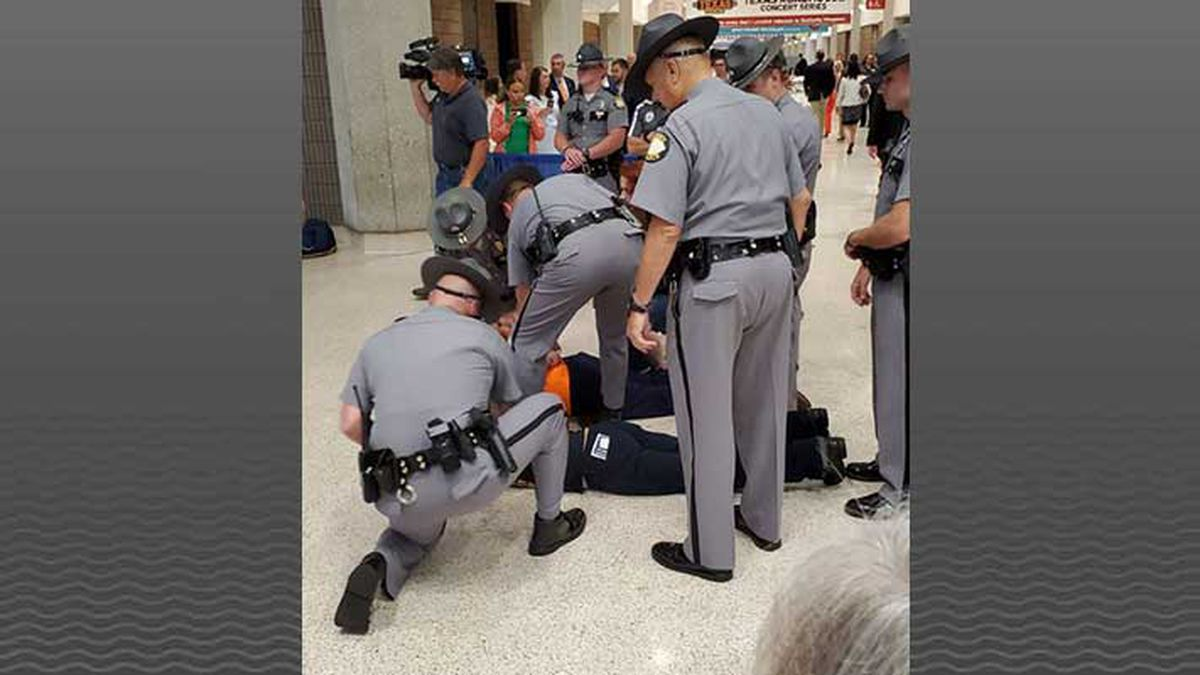 3 protesters arrested at Kentucky State Fair ham breakfast