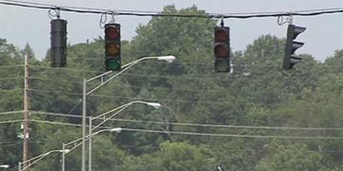 Light installed for bridge construction crews