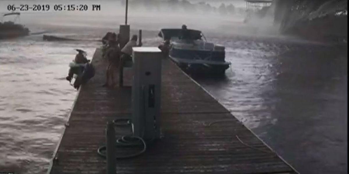 Video shows the moment a tornado damaged a KY marina