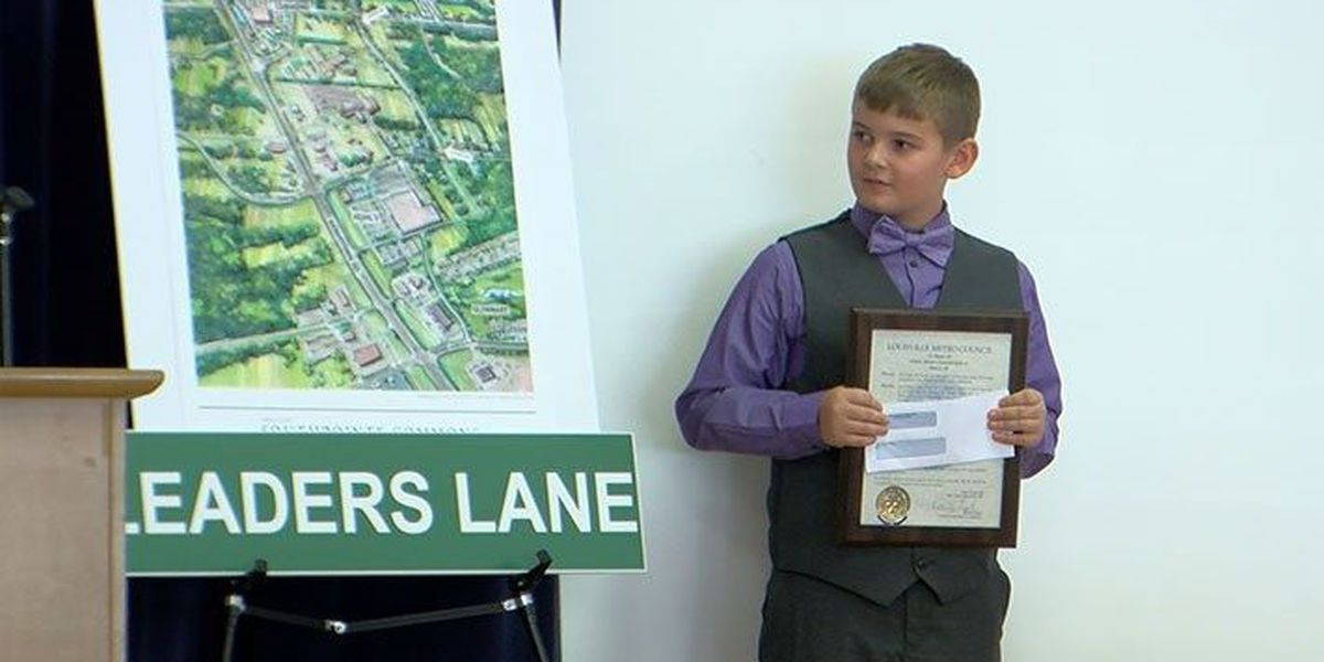 6th grader wins Louisville street naming contest after leadership-focused essay