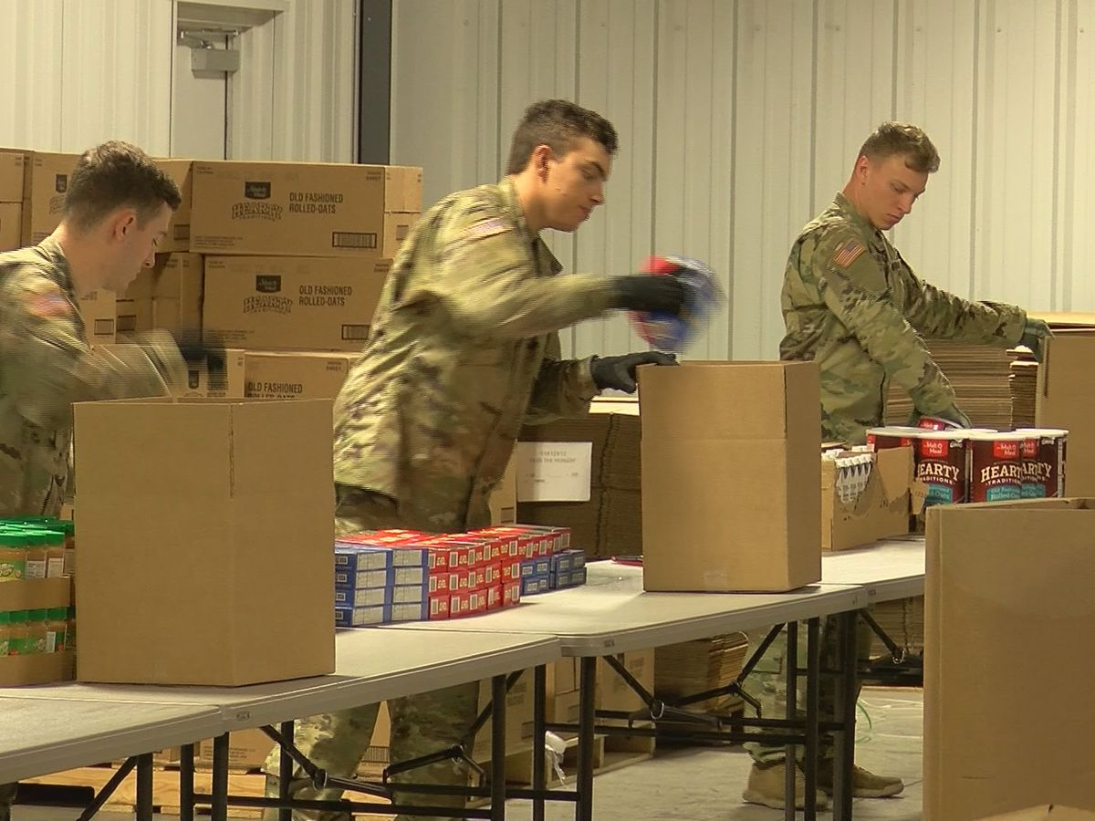 National guard deployed to help feed Kentucky residents