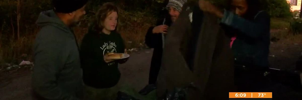 Local volunteer group passes out coats and essentials to homeless camps