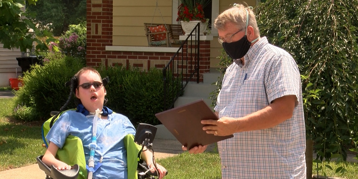Birthday drive-by parade hosted for teenager with spinal muscular atrophy