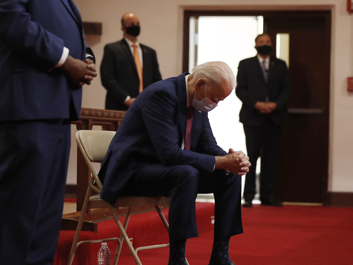 Biden meets with black leaders at church amid unrest