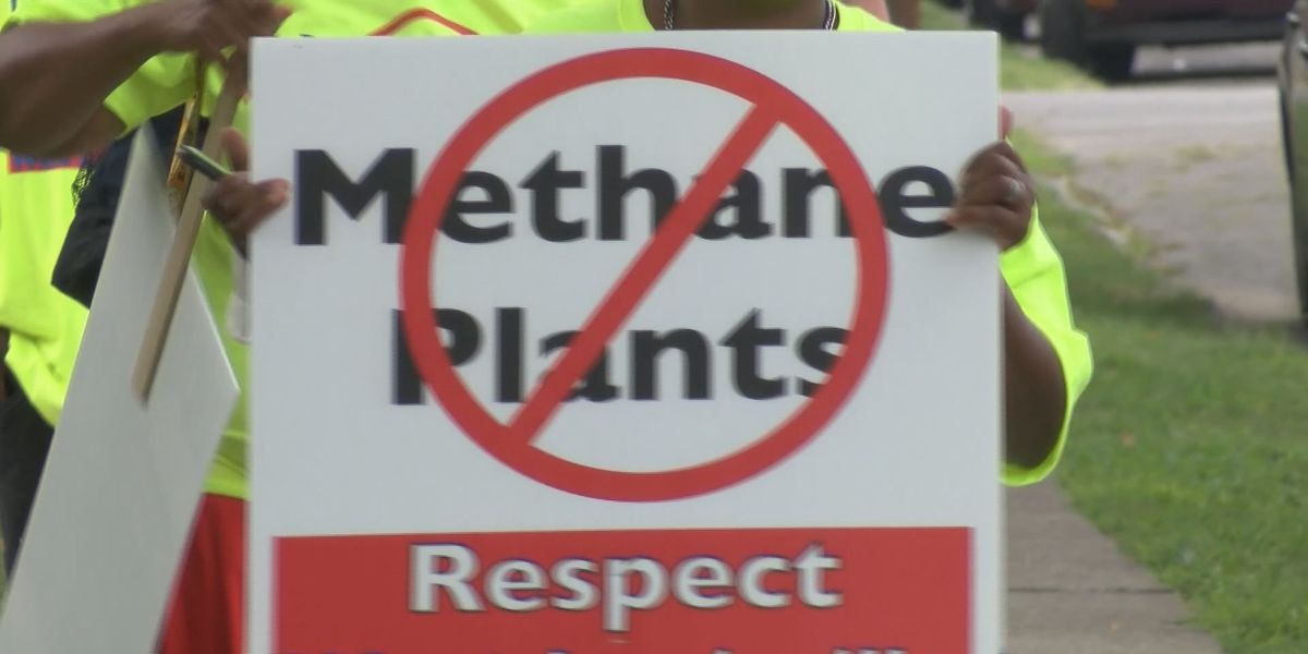 Protestors question location of proposed methane plant